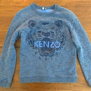 Kenzo women's blue tiger sweater small